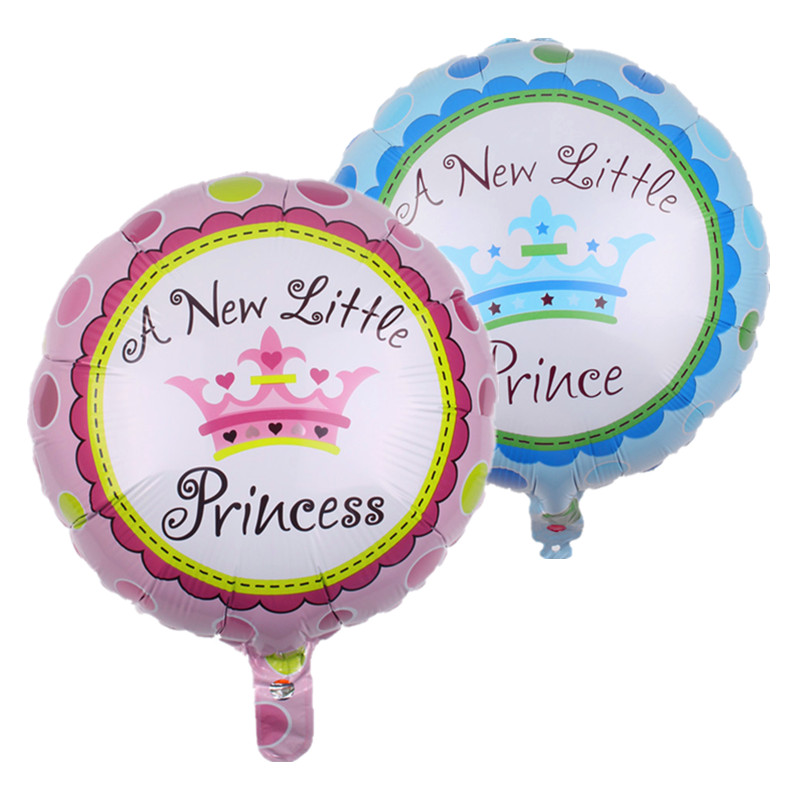 TSZWJ L-004 18-inch circular crown toy birthday party balloons decorated aluminum balloons wholesale