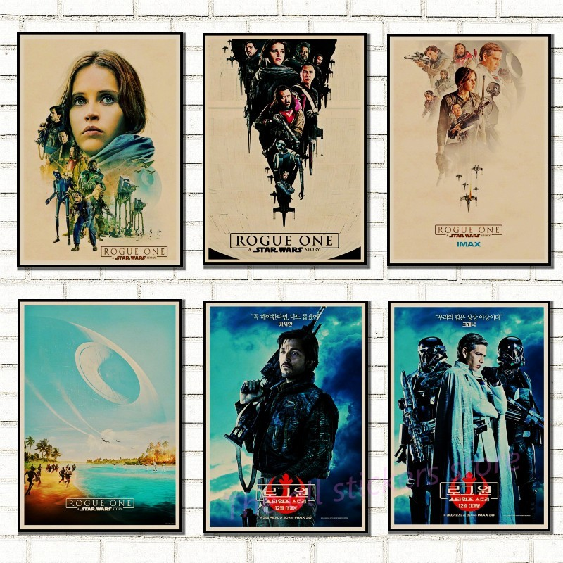 Klasik Star Wars poster of vintage sanat klasik aile dekore film RogueOne Star Wars kraft posteri duvar sticker/5003