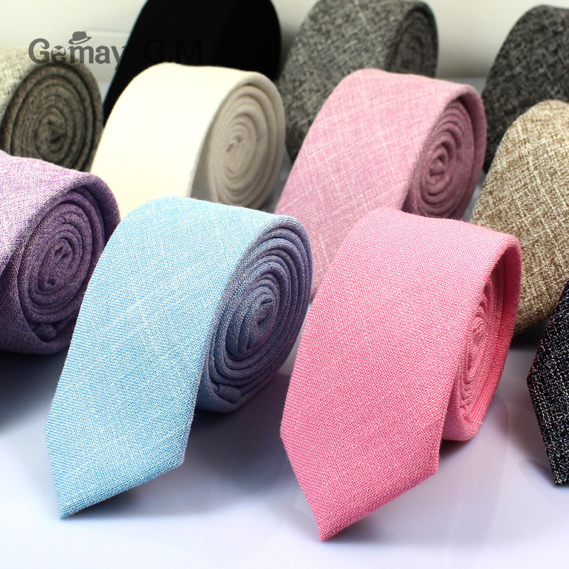 New cotton tie Korean men&39;s Necktie Classic Narrow Version 6cm Male Suit Shirt Ties Bussiness Skinny Groom Necktie Accessories
